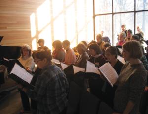 WBUUC Choir sings on a Sunday